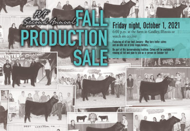 2021 Fall Production Sale – Oct. 1, 2021